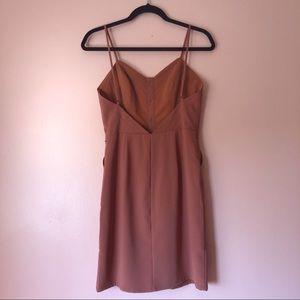 Lovers + Friends Dresses - Lovers + Friends Rust Button Dress